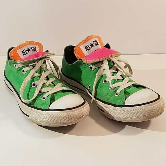Converse Shoes - Green Double Tongue Converse All Star Sneakers 9 61f9a4789